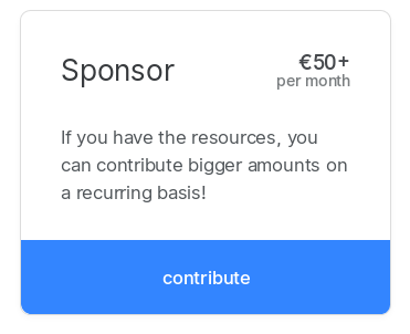 Sponsor tier on Open Collective