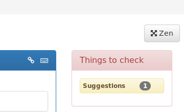 "The ""Checks"" area tells you what you need to do for a given translation"